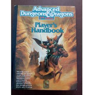 Advanced Dungeons & Dragons Players Handbook 2nd Edition