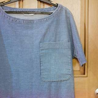 Zara Denim Boxy Top