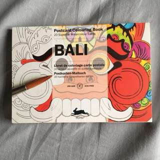 Bali color book - postcards