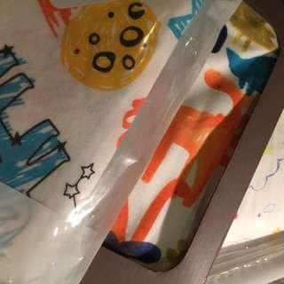 BNWT 3 baby boy girl unisex swaddle wrap blanket pram cover cartoon cute