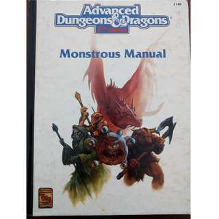 Advanced Dungeons & Dragons RPG Gamebook - Monstrous Manual by TSR