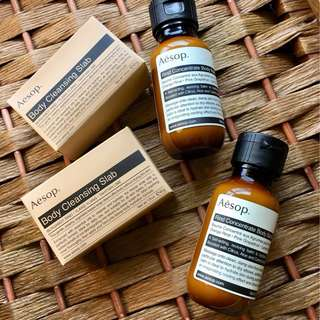 Aesop Travel Set Body Cleansing Slab Rind Concentrate Body Balm