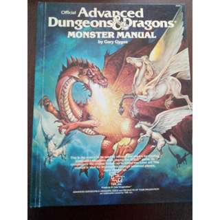 Advanced Dungeons & Dragons Monster Manual RPG by TSR