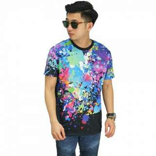 PROMO - Kaos Printing Extra Paint Splash Black