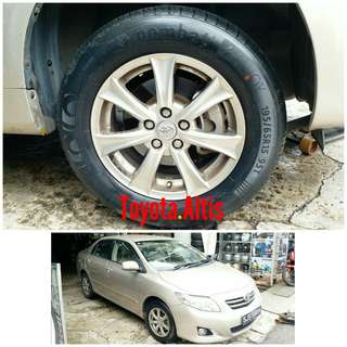 Tyre 195/65 R15 Membat on Toyota Altis 🐕 Super Offer 🙋‍♂️