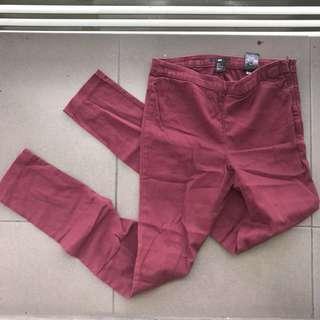 H&M maroon pants