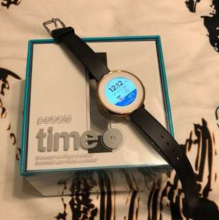 Preloved Pebble Time Round 14mm Smartwatch