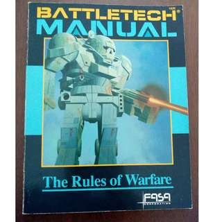 Battletech Manual RPG - The Rules of Warfare by FASA