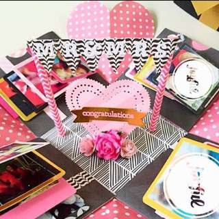 Congratulation mr and Mrs Handmade Explosion Box card