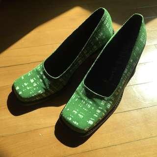 Prada布面高踭鞋