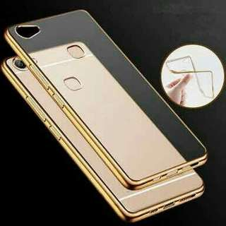 Samsung J7+ Casing Shinning Chrome Warna Anti Crack Silikon