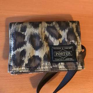 (非常抵玩)HEAD PORTER LEOPARD CARD HOLDER