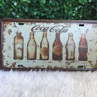 Vintage coca cola wall tag/decoration