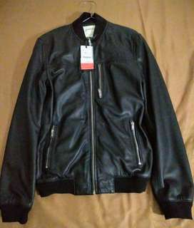 Leather Bomber Jacket Stradivarius - Semarang