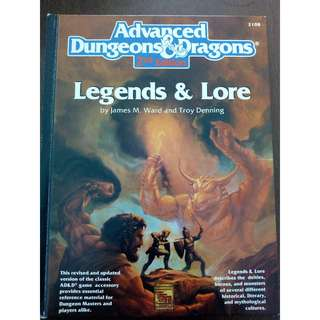 Advanced Dungeons & Dragons RPG- Legends and Lore by TSR 2nd Edition