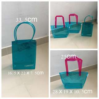 (BN)Set Of 3 Transparent Totes Bag