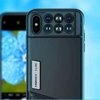 **MOMAX 6合1攝影鏡頭iPhoneX手機殼**