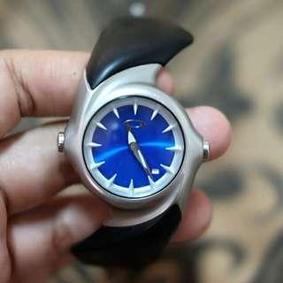 Original jam tangan Oakley Crush 2.0 honed blue chrome rare item
