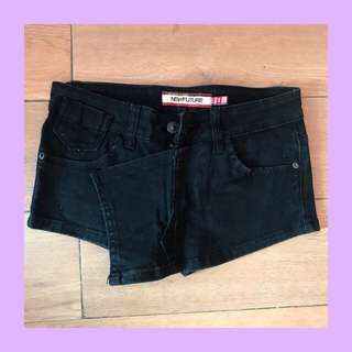black denim skort / shorts