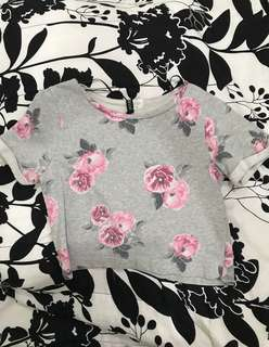 H&M Floral Cropped Top