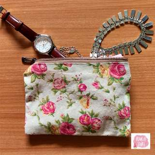 Handmade floral pouch (Free shipping in Singapore)