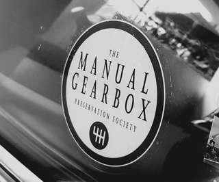 Manual gearbox window decal