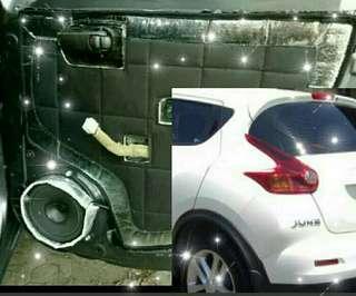 peredam suara pintu mobil Nissan Juke