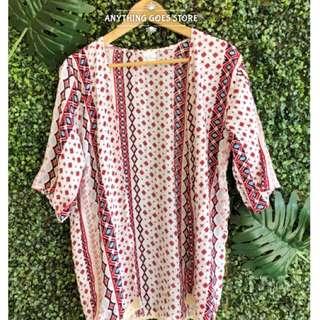 Summer Mid-length Aztec Kimono