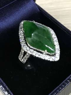 Jade Ring with Cert