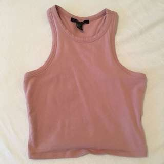 Racer back pink crop top