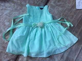 Periwinkle mint green dress