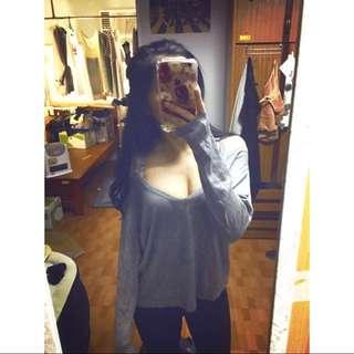 Zara 露肩長袖上衣 材質舒適#超取再七折
