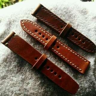 Strap jam tangan asli kulit