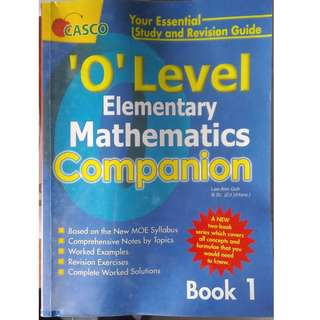 CASCO 'O' Level Elementary Mathematics Companion [Book 1]