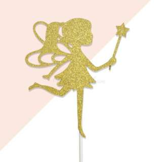 Fairy Gold Glitters Cake Topper