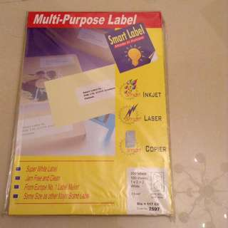 Multi purposes label