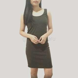 IYA Ribbed Sleeveless Dress
