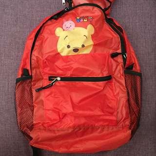全新未使用 迪士尼 小熊維尼 後背包/折疊包