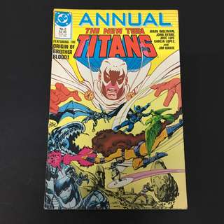 The New Teen Titans Annual 2 DC Comics Book Justice League Movie