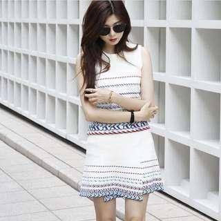 Alley艾莉 Zheng 彩色條紋兩件式套裝
