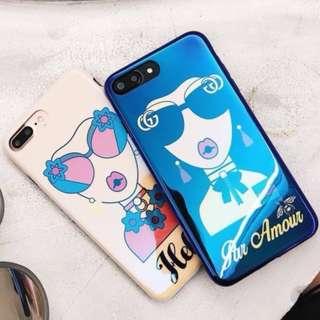 手機殼IPhone6/7/8/plus/X : 藍光潮牌女神