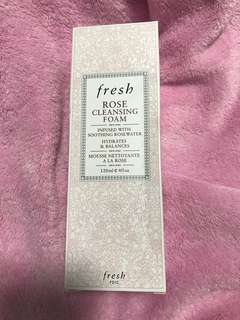 Fresh Rose Cleansing Foam Infused with Soothing Rosewater Hydrates and Balances 120