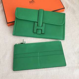 Authentic Hermes Jige Clutch Wallet