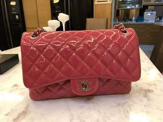 Chanel classic patent leather jumbo double flap bag