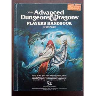 Advanced Dungeons & Dragons Players Handbook RPG