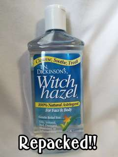 Authentic T.N. Dickinson's Witch Hazel (100 ml) repacked
