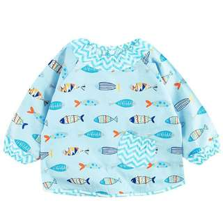 🐰Instock - baby blue fish bibs, baby infant toddler children glad cute 123456789 lalalala