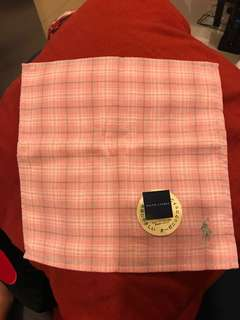 Ralph Lauren polo check handkerchief 手巾 毛巾 格仔