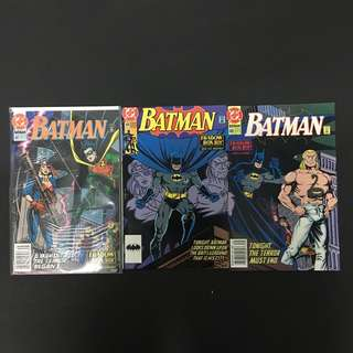 Batman 467 to 469 DC Comics Book Justice League Movie Robin