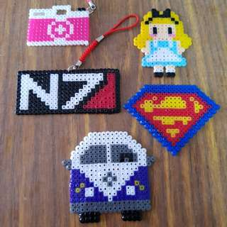 Keychain/Magnet Perler/Hama/Pixelart Artpiece (Contact for price)